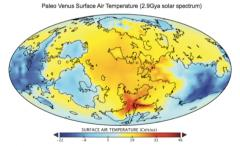 Paleo Venus Surface Air Temperature (2.9 Gya solar spectrum)